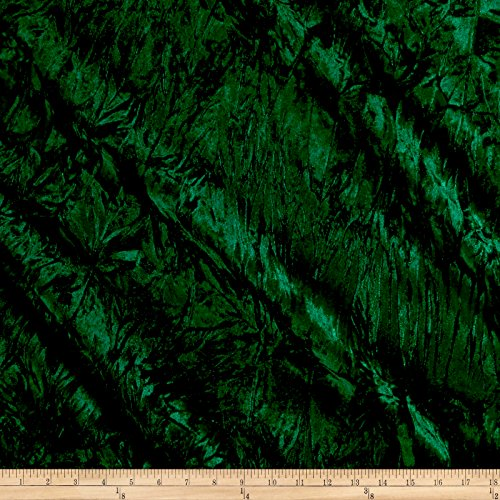 Alpine Crushed Velvet Emerald, Fabric by the Yard