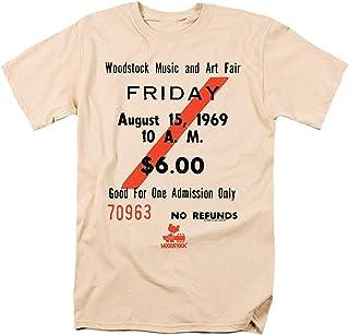 Camisetas de Manga Corta para Hombres y Mujeres Patrón Interesante Woodstock Music Festival Ticket Camiseta Pegatinas
