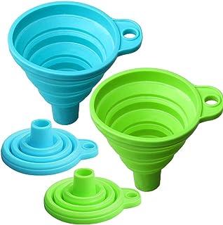 Yuanzi 2 Pack Entonnoir Pliable enSilicone, Entonnoir Pliable Bouteille Filtrer Dosager Liquid pour Cuisine
