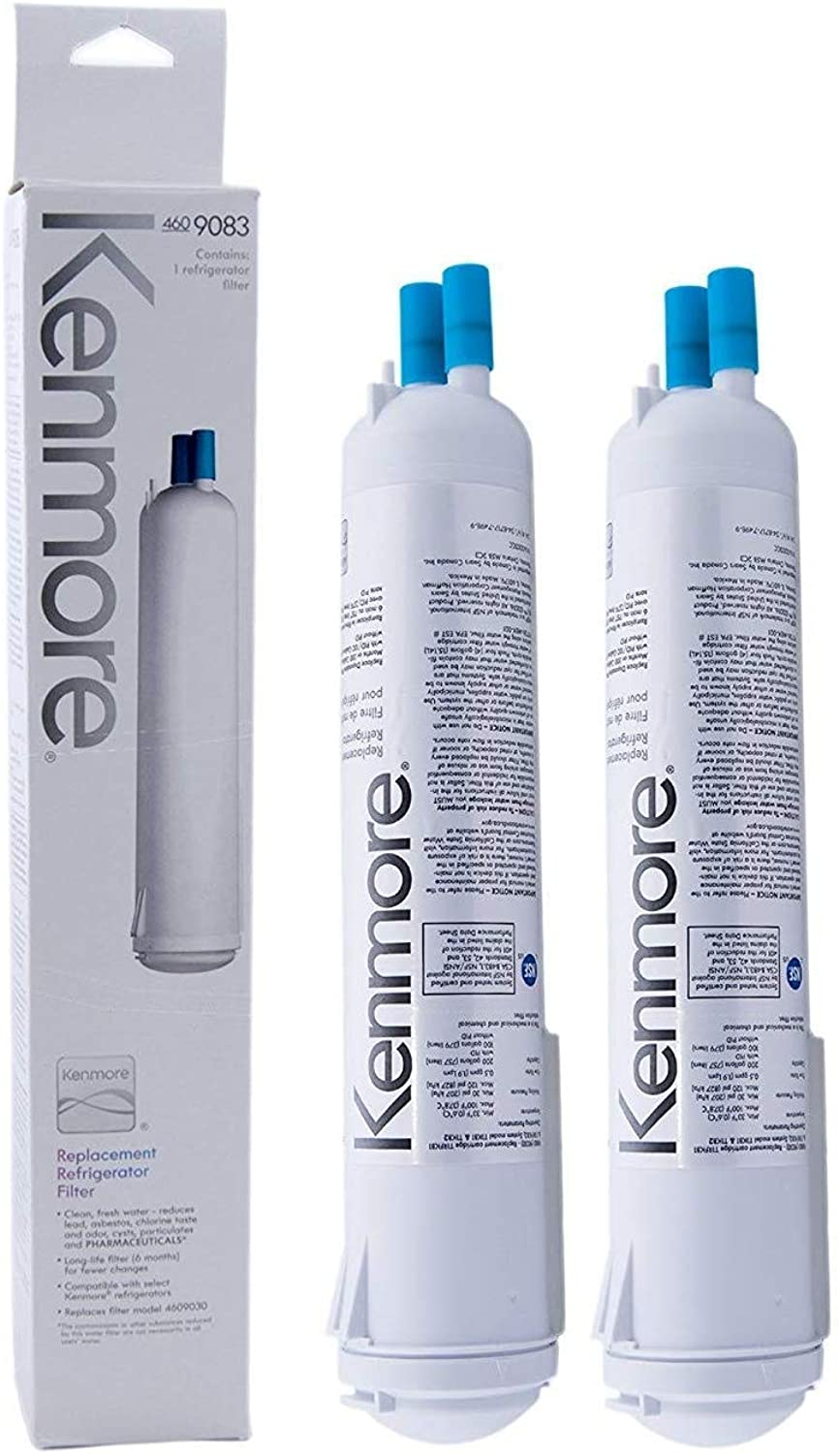 Kenmore 9083 Replacement Refrigerator Filter for Kenmore 9083 9030 - Latest Model (Pack of 2)