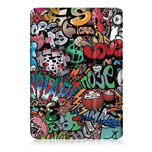 Xuanbeier Huawei MediaPad T3 10 Hülle Case-Ultra Dünn und Leicht PU Leder Schutzhülle Cover für Huawei MediaPad T3 10(9,6 Zoll) (Z-Graffiti) - 8