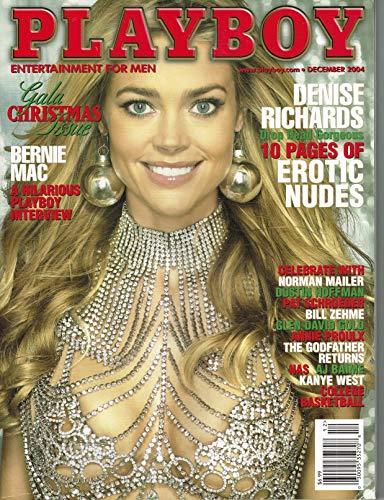 ,Playboy Magazine - December 2004 - Denise Richards Single Issue Magazine – December, 2004 (This Magazine is Little damage Front Cover)