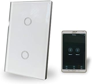WiFi Smart Light Switch 2 Gang Glass Panel AU Approved Google, Alexa, IFTT Compatible