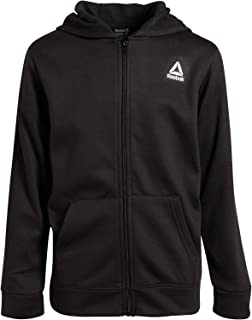 Reebok Boys' Soft Fleece Athletic Zip Up Hoodie