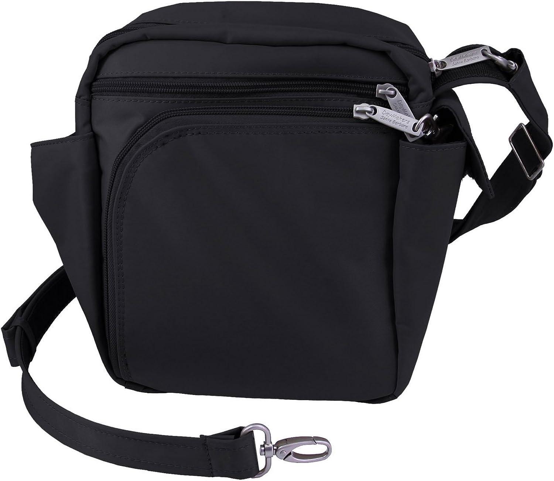 Be Safe Bags AntiTheft RFID Medium Organizer Purse 10 pockets, Travel 10