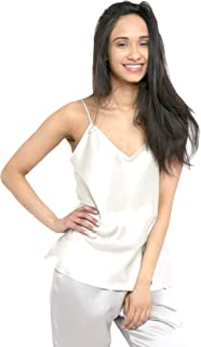 21 Momme 100% Pure Silk Camisole with Adjustable Strap for Women, 100% Mulberry Silk, Lightweight and Breathable