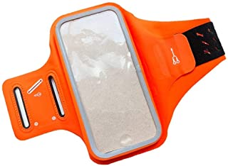DFV mobile - Professional Cover Chinlon-Lycra Ultra-thin Armband Sport Walking Running Fitness Cycling Gym for VIVO V11 (2018) - Orange