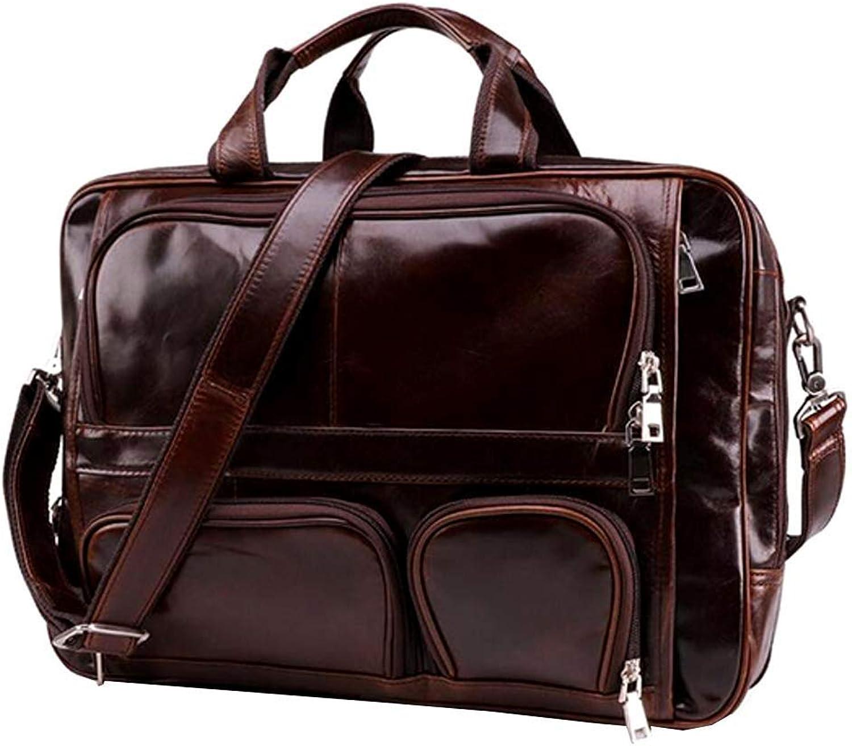 Mens Business Briefcase 15 Inch Laptop Vintage Satchel Shoulder Messenger Bag Crossbody Handbag Travel Bag