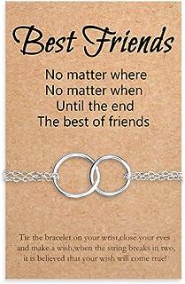 Tarsus Best Friend BFF Braceclet Matching Friendship Relationship Dainty Distance Adjustable Hypoallergenic Wish Bracelet ...