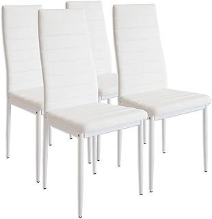 Albatros 2552 MILANO Set de 4 sillas de comedor blanco
