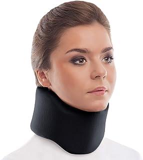 "TOROS-GROUP ergonomic گردن بند / گردن پشتیبانی برس / 100٪ - خط پنبه - گردن 4 ""سیاه"