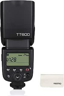 【電波法認証取得】Godox TT600 カメラフラッシュ 2.4GワイヤレスXシステム内蔵 LCDパネル搭載 1/8000s 高速シンクロ Canon/Nikon/Pentax/Olympus DSLR カメラ対応