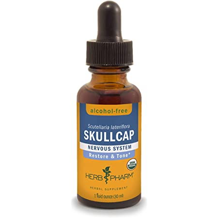 Herb Pharm Certified Organic Skullcap Liquid Extract for Nervous System Support, 1 Fl Oz