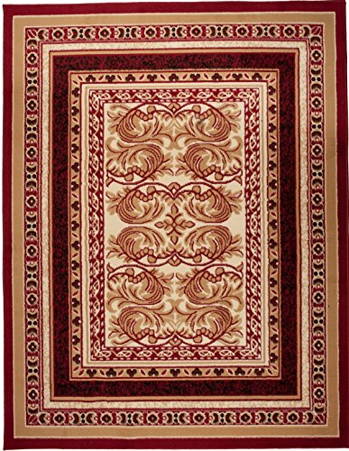 Carpeto Rugs Tapis Salon Rouge 100 x 200 cm Classique/Verona Collection