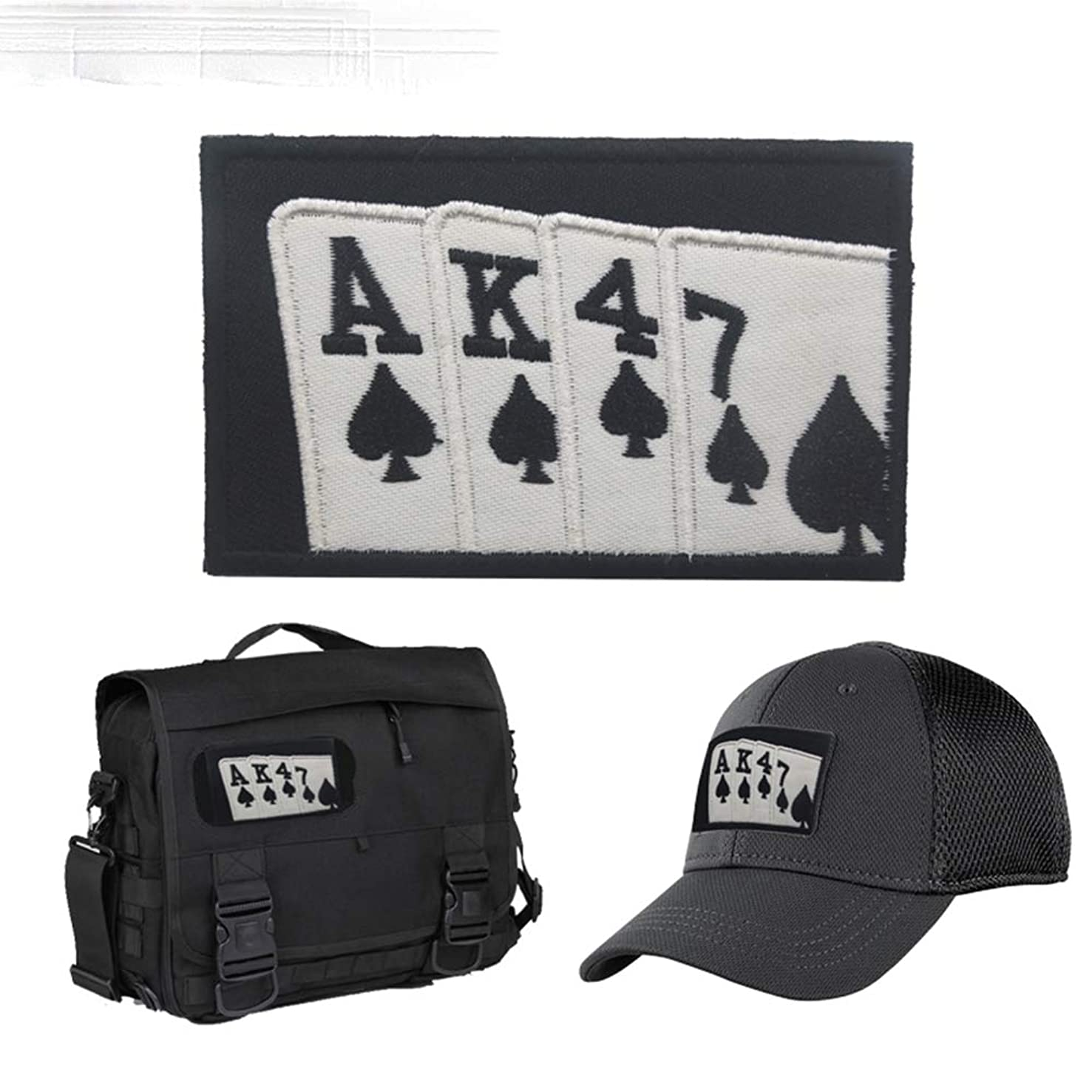 AK47 Patch, Morale Tactical Military Army Gear, Badge Hook Loop Flag Patch,Backpack, Operator Baseball Cap, Plate Carrier or Vest. 2x3