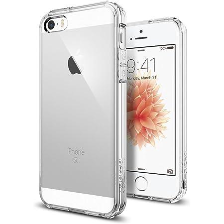 Spigen Coque iPhone Se (2016) / 5S / 5 [Ultra Hybrid] Bumper Souple, Dos Transparent Rigide, Protection Air Cushion aux 4 Coins, Compatible avec iPhone Se (2016) / 5S / 5 - Transparent - 4 pouces