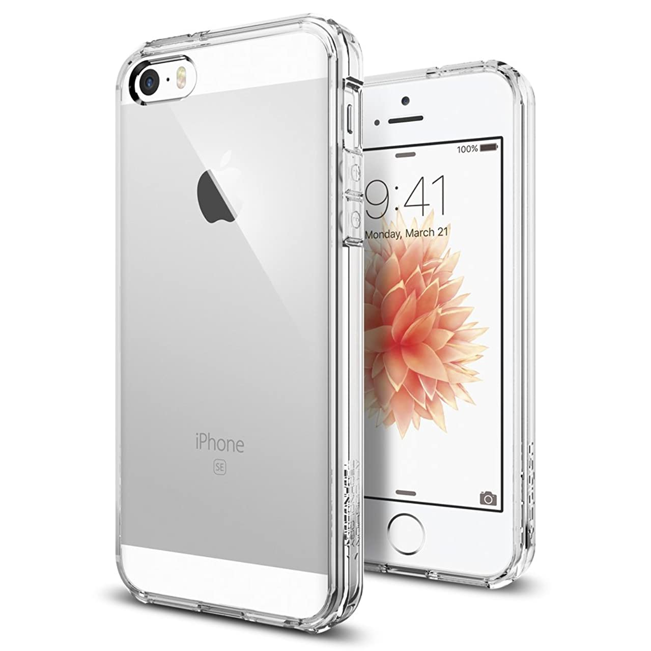 Spigen Ultra Hybrid iPhone 5S / 5 Case with Air Cushion Technology and Hybrid Drop Protection for iPhone 5S / iPhone 5 - Crystal Clear