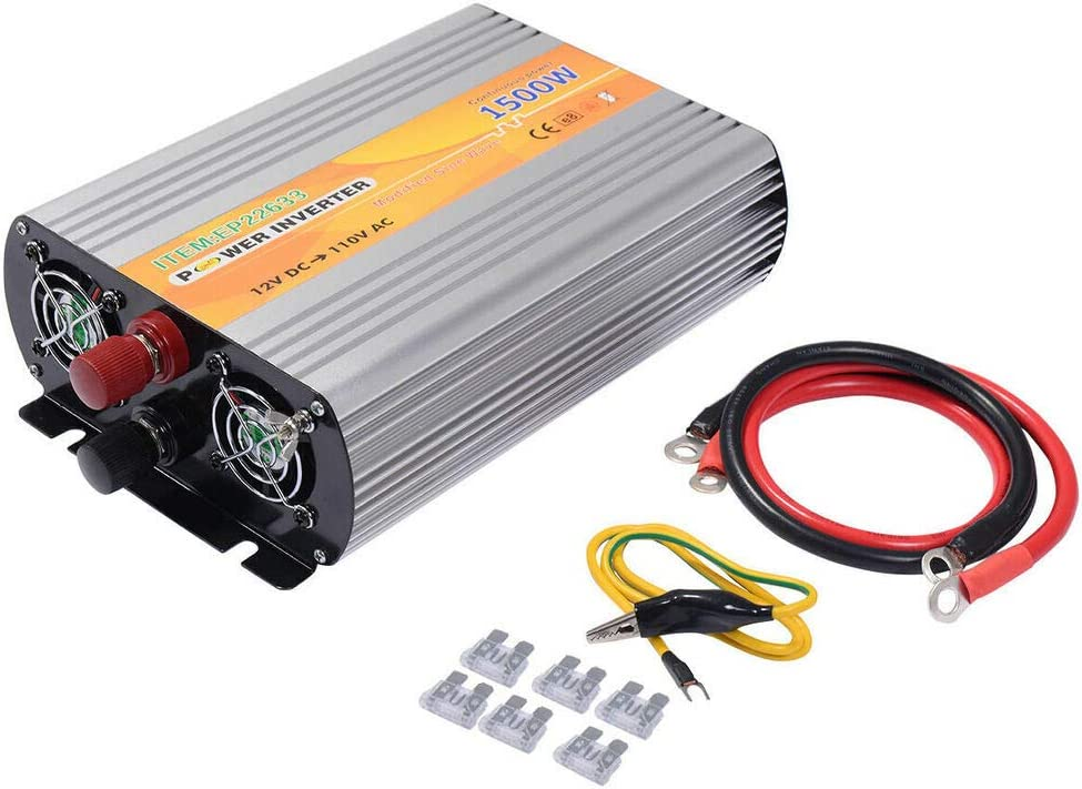 AC 1500W 12V DC TO 110V Conver Adapter Sale special price Max 50% OFF Automotive Inverter Power