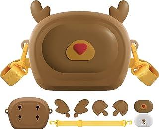 Sponsored Ad - Vakdon Kids Crossbody Bags, DIY Creative Toddler Cute Purses Kids Shoulder Bag,3 Cartoon Animal buckles,Dev...