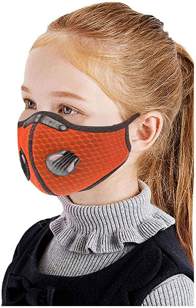 Riding Mouth/_Mask for Kids Washable Outdoor Sports Safety/_Mask Childrens Reusable Face/_Mask with Filters