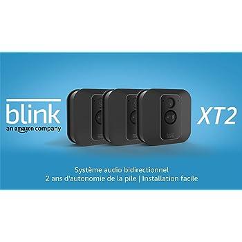 Blink XT2 | Caméra de sécurité connectée, Intérieur/extérieur, avec stockage dans le Cloud, système audio bidirectionnel, 2 ans d'autonomie de la batterie | Kit 3 caméras