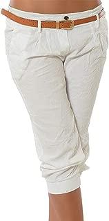 Da Donna Capri Pantaloni Donna 3//4 Tasche Lunghezza Pantaloncini Corti Pantaloni Elastico Nuovo