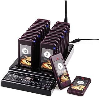 Retekess T112 Sistema de Llamadas Mejorado Sistema de Buscapersonas Pager System CE 999 Canal 20 Buscapersonas Recargables...