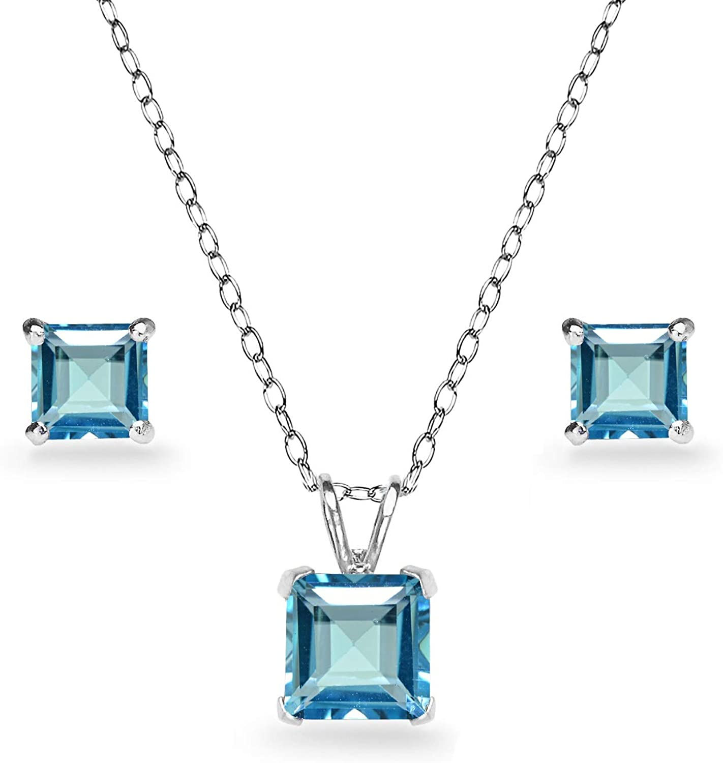 Gemstone Jewelry Set Gift For Women Natural London Blue Topaz Jewelry Set Blue Topaz Set Bridal Jewelry Set Earring Ring Earring Set
