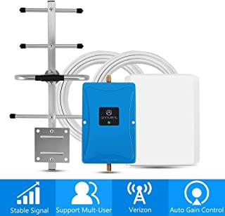 Verizon 4G Cell Phone Signal Booster for Home and Office - Enhance Your LTE Voice and Data by 65dB 700MHz Band 13 Repeater and Panel/Yagi Antennas Extend Coverage Up to 4,000Sq Ft