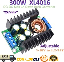 TECNOIOT 300W XL4016 DC-DC MAX 9A Step Down 5-40V to 1.2-35V Adjustable Power Supply