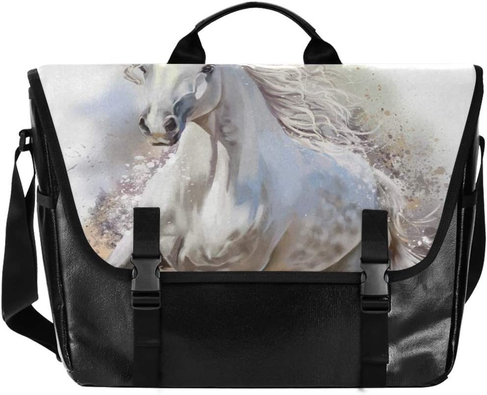 We OFFer at cheap prices Messenger Max 45% OFF Bag White Horse Unisex Office Casual Satchel Briefcase