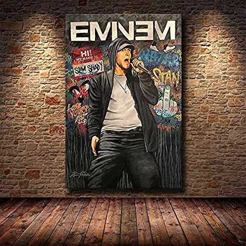MKAN Canvas Painting, Hip Hop Rap Super Rapper Singer Music Posters And Prints, Wall Art Abstract Picture 40X50Cm