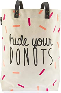 "Graphique Hide Your Donuts Shopper Tote Bag 15"" x 16.5"""
