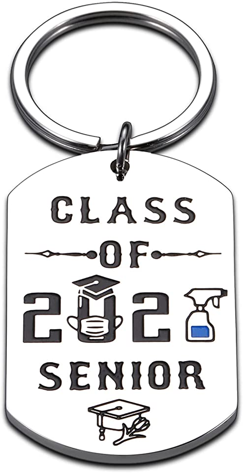 Class of 2021 Inspirational Keychain Graduation Gifts for Him Her Teen Girls Boys Friends High School College University Senior Year Grad Gift for Women Men Nurses Student from Daddy Mom
