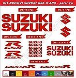 Adesivi Stickers Suzuki GSX-R GSXR 600 Moto Motorbike cod.0643 (Rosso cod. 031)