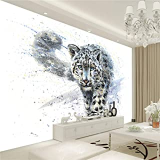 Creative Art Prints Pictures Blue Eyes Leopard Tiger Canvas Oil Paintings Wallpaper Black and White Animal Poster Home Decor Lmyly-250cmx175cm