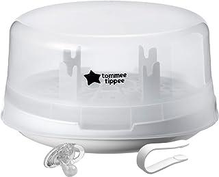 Tommee Tippee esterilizador de botella de vapor para viaje de microondas – Esteriliza 4 botellas a la vez, esteriliza en 4 – 8 minutos – sin BPA