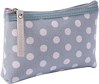 AWJ Fabric Zipper Purse Multifunction Canvas Card Package Key Bag Mobile Phone Bbag Wash Bag Makeup Storage Bag