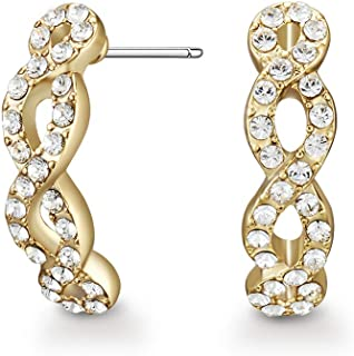 Mestige Women Glass Gold Savannah Earrings with Swarovski Crystals