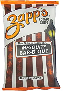 Zapp's New Orleans Kettle-Style Potato Chips, Mesquite BBQ – Crunchy Chips with a Smokey Kick, Great for Lunches or Snacking on the Go, 2 oz. Bag (Pack of 25)
