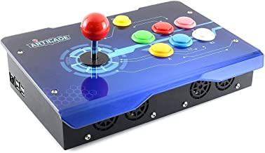 Waveshare Arcade-C-1P is a 1 Player Arcade Console Powered by Raspberry Pi 3B+ Provides Classic Arcade Control Joystick Colorful Buttons Allows User-Defined Thousands of Games Are Available
