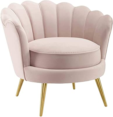Admirable Amazon Com High Back Accent Chair In Pink Velvet And Gold Ibusinesslaw Wood Chair Design Ideas Ibusinesslaworg