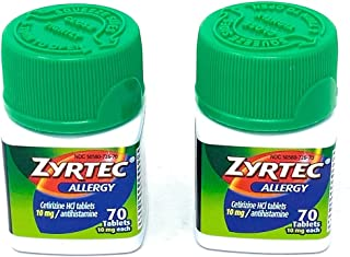Zyrtec Allergy Relief Tablets, 140 Count