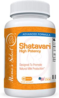 Shatavari - Natural Breast Milk Production & Lactation Supplement - Balances Female Hormonal System for Nursing & Breastfeeding, 60 Vegan Capsules, Organic, Safe and Non-GMO - Mama's Select