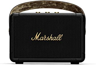 Marshall Officialワイヤレスポータブルスピーカー KILBURN II ブラック&ブラス 連続再生20時間/IPX2防滴仕様/急速充電/aptX対応【国内正規品】