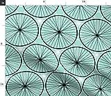 Spoonflower0293, Rad, Fahrrad, Kreis, Transport Stoffe -