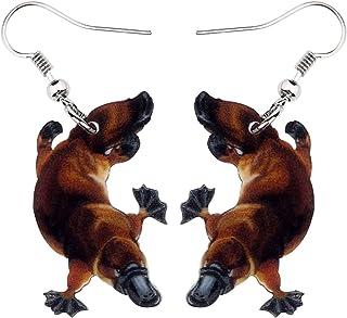 NEWEI Acrylic Australian Platypus Duckbill Duckmole Dangle Earrings Drop For Women Kid Sweet Animal Jewelry Gift Charm
