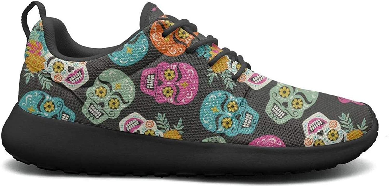 Wuixkas Mexican Holiday Skull Womens Lightweight Mesh Sneakers Jogger Sports shoes
