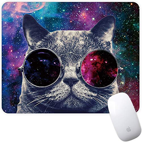 Marphe Mouse Pad Mousepad Non-Slip Rubber Gaming Mouse Pad Rectangle Mouse Pads for Computers Laptop (Space Cat)