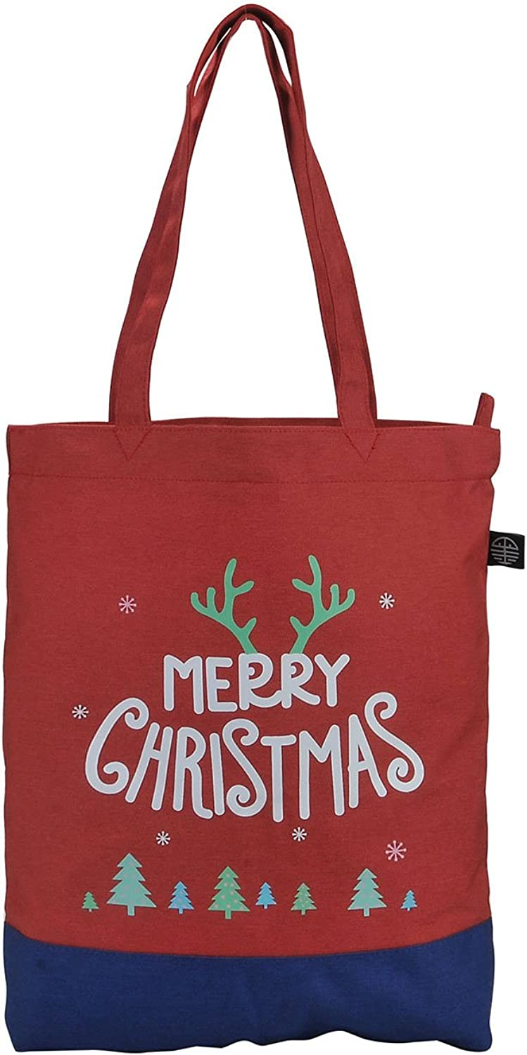 Ayliss Canves Tote Bag Christmas Handbag Portable Shopping Shoulder Bag for Women Teen Girls
